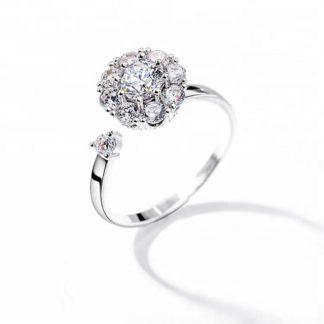 anillo de plata gira joyas agate