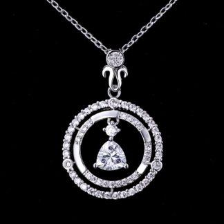 collar de plata esterlina circles joyas agate
